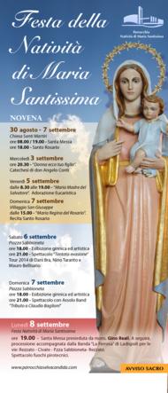 Festa Natività di Maria Santissima