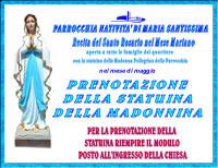 Madonna Pellegrina della Parrocchia - Prenotazione statuina