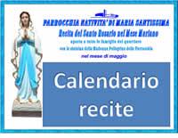 Santo Rosario nelle famiglie con la statuina della Madonna Pellegrina della parrocchia