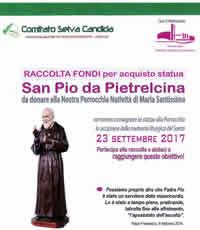 Raccolta fondi per statua San Pio da Pietrelcina