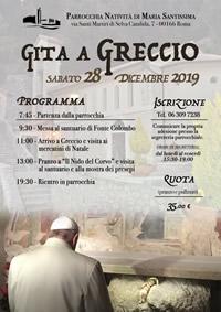 Gita a Greccio 28 dicembre 2019