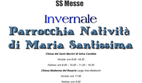 ORARIO SS MESSE INVERNALE 2020